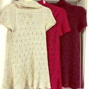 Lot of 3 Short-Sleeved Sweaters
